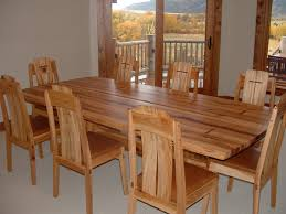 Hickory Dining Room Chairs by Reclaimed Hickory Dinning Table And Chairs Finewoodworking