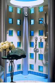 bathroom exciting glass block walk shower innovate building