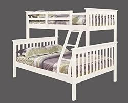 amazon com twin over full mission bunk bed in white kitchen u0026 dining