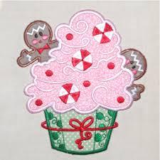 christmas applique christmas gingerbread cupcake kitchen applique embroidery design