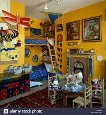 built in bunk beds built in bunk beds with ladders in bright yellow eighties