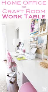 Design A Craft Room - craft room work table using file cabinets in my own style
