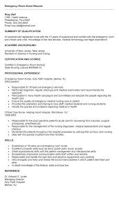Nursing Resume Cover Letter Examples by Trendy Design Er Nurse Resume 11 Emergency Room Nurse Cover Letter