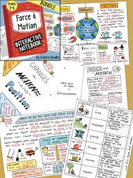 force and motion interactive notebook bundle by science doodles