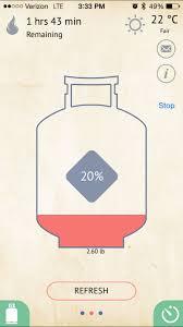 Backyard Grill Refillable Propane Tank by Gaswatch Propane Tank Scale Alerts You When You Run Low On Fuel