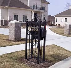 custom iron mailbox