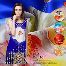 114cm wide 16 5mm 100 silk printing fabric digital printing blue