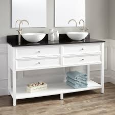 Wynne Double Vessel Sink Vanity  Drawers White Vessel - Bathroom vanities double vessel sink