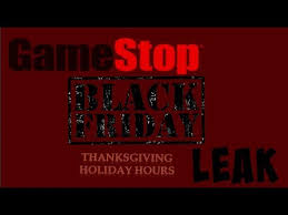 gamestop black friday leak