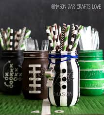 mason jar home decor ideas football party mason jars mason jar crafts love