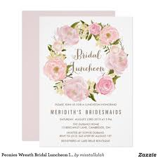 wedding luncheon invitations peonies wreath bridal luncheon invitation wedding bridal