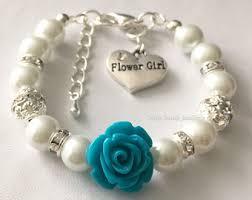 flower girl charm bracelet flower girl jewelry etsy