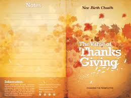 the value of thanksgiving church bulletin template by