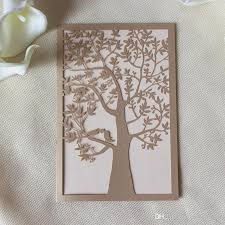 laser cut wed invitation embellishment tree design wed