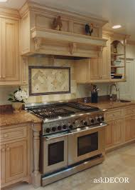 simple american colonial style kitchen features brown wooden