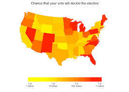 2016 Election Prediction Map by What Is The Chance That Your Vote Will Decide The Election Ask