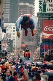 1980 superman v 3 largest balloon to appear in the parade
