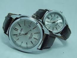 Jam Tangan Alba Pasangan alba kulit silver fill jam tangan alba tali kulit warna cokelat