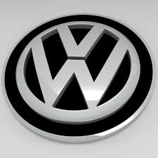 german volkswagen logo logo 3d model