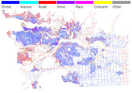 Map Of Metro by Streets Roads And Avenues A Colour Coded Map Of Metro Vancouver