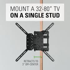 Tv Wall Mount Extension Sanus Single Stud Full Motion Tv Wall Mount For 32