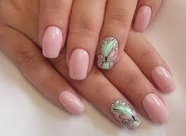 butterfly flower design shellac nail designs pinterest