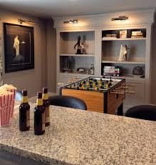 GaragedoorconversionFamilyRoomModernwithbarstoolsCustom - Garage family room