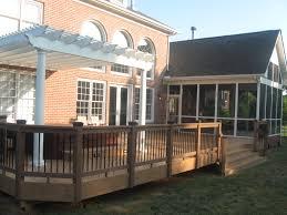 decks com a fiberon deck and railing with gable style screened