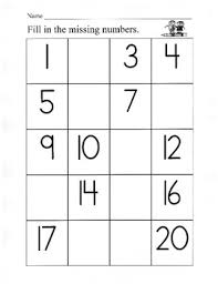 number charts fill in the missing numbers writing numbers