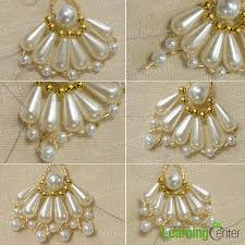 how to make a pair of bridal chandelier earrings with pearl and