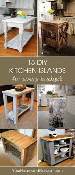 inexpensive kitchen island ideas gorgeous diy kitchen islands for every budget
