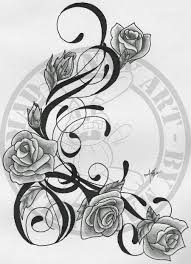 trible vine and roses images tattoomagz