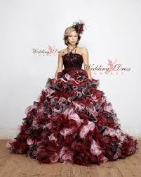 Red And Black Party Dresses Gothic Wedding Dresses And Gothic Bridal Gowns