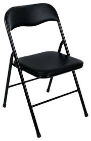 cool folding chairs black vinyl black folding chair black padded