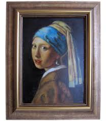 vermeer earring girl with a pearl earring by johannes vermeer on canvas