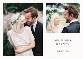 wedding photo thank you cards personalised wedding thank you cards stationery papier