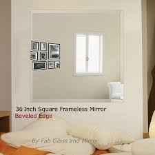 36 inch square frame less wall mirrors