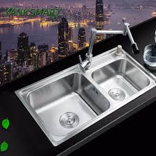 Kitchen Sink With Faucet Set Online Get Cheap Square Double Sink Aliexpress Com Alibaba Group