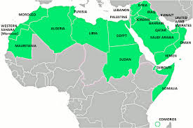 arab countries map map of the arab countries major tourist attractions maps