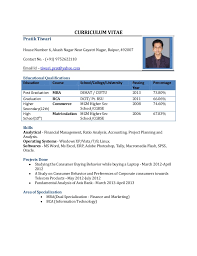 resume format for fresher cv resume pdf cv format for mba freshers free in