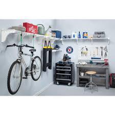 ez shelf 40 in 75 in metal 3 expandable garage shelf in white