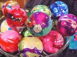 easter decorations to make for the home how to make airbrushed glass ornaments hgtv