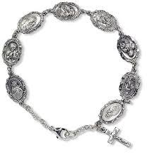 saints bracelet patron metal silver bracelet