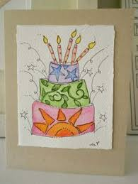 hand drawn birthday card