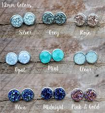 earrings for sensitive ears hypoallergenic stainless druzy earrings sensitive ears resin