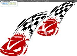 racing cars and symbols for sports or tattoo design image clip