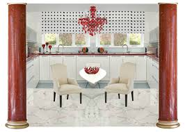 the red and white neo classic kitchen u2013 cherishingspaces