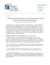 women s medicaid works for women but proposed cuts would have harsh