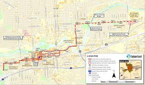 Spokane Map Spokane Moving Forward The Central City Line