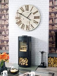 White Backsplash Kitchen Kitchen Room Design Ideas Enchanting Modern Industrial Clock
